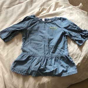 Carter's 3/4 sleeve top size 18 months